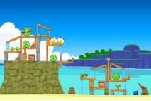 Angry Birds Surf and Turf Level 14 Walkthrough