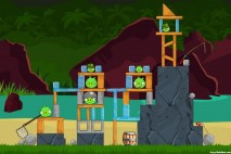 Angry Birds Facebook Surf and Turf Level 16 Walkthrough