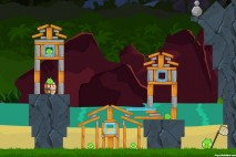 Angry Birds Facebook Surf and Turf Level 17 Walkthrough