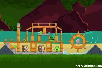 Angry Birds Facebook Surf and Turf Level 19 Walkthrough