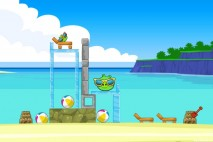 Angry Birds Facebook Surf and Turf Level 2 Walkthrough