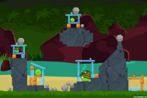 Angry Birds Facebook Surf and Turf Level 22 Walkthrough