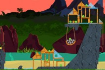 Angry Birds Facebook Surf and Turf Level 24 Walkthrough
