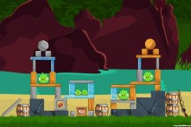 Angry Birds Facebook Surf and Turf Level 25 Walkthrough