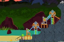 Angry Birds Facebook Surf and Turf Level 27 Walkthrough