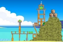 Angry Birds Free 3 Star Walkthrough Surf and Turf Level 4