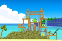Angry Birds Free 3 Star Walkthrough Surf and Turf Level 5