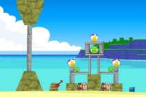 Angry Birds Facebook Surf and Turf Level 7 Walkthrough
