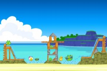Angry Birds Facebook Surf and Turf Level 8 Walkthrough