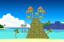 Angry Birds Facebook Surf and Turf Level 9 Walkthrough