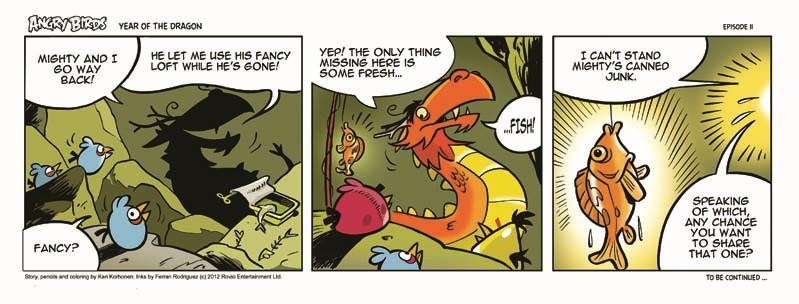cartoon Chasing the strip dragon