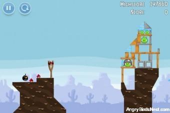 Angry Birds Vuela Tazos Level 1 Walkthrough