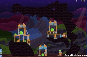 Angry Birds Facebook Surf and Turf Level 39 Walkthrough
