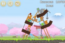 Angry Birds Fuji TV Sakura Ninja Level 10