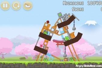Angry Birds Fuji TV Sakura Ninja Level 10