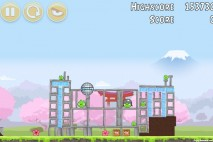 Angry Birds Fuji TV Sakura Ninja Level 12