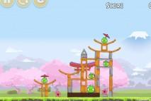 Angry Birds Fuji TV Sakura Ninja Level 3