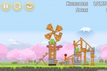 Angry Birds Fuji TV Sakura Ninja Level 4