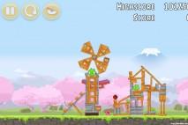 Angry Birds Fuji TV Sakura Ninja Level 4