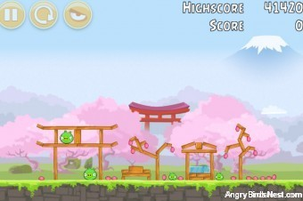 Angry Birds Fuji TV Sakura Ninja Level 6