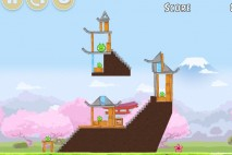 Angry Birds Fuji TV Sakura Ninja Level 9