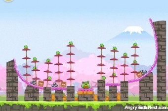 Angry Birds Seasons Cherry Blossom Golden Egg #32 Walkthrough