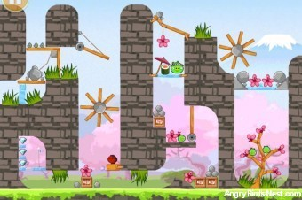 Angry Birds Seasons Cherry Blossom Golden Egg #33 Walkthrough