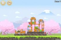 Angry Birds Seasons Cherry Blossom Level 1-4 Walkthrough