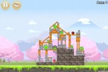 Angry Birds Seasons Cherry Blossom Level 1-5 Walkthrough