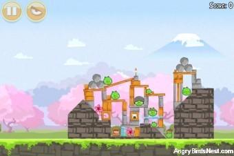 Angry Birds Seasons Cherry Blossom Level 1-9 Walkthrough