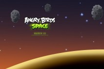 Angry Birds Space Asteroids iPad Wallpaper