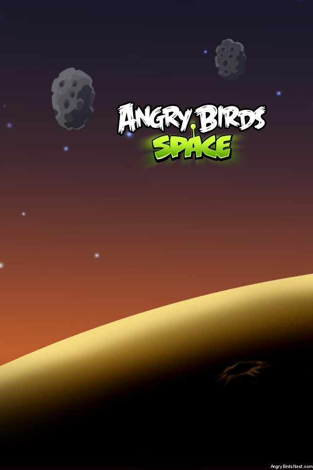 Angry Birds Space Asteroids iPhone Wallpaper