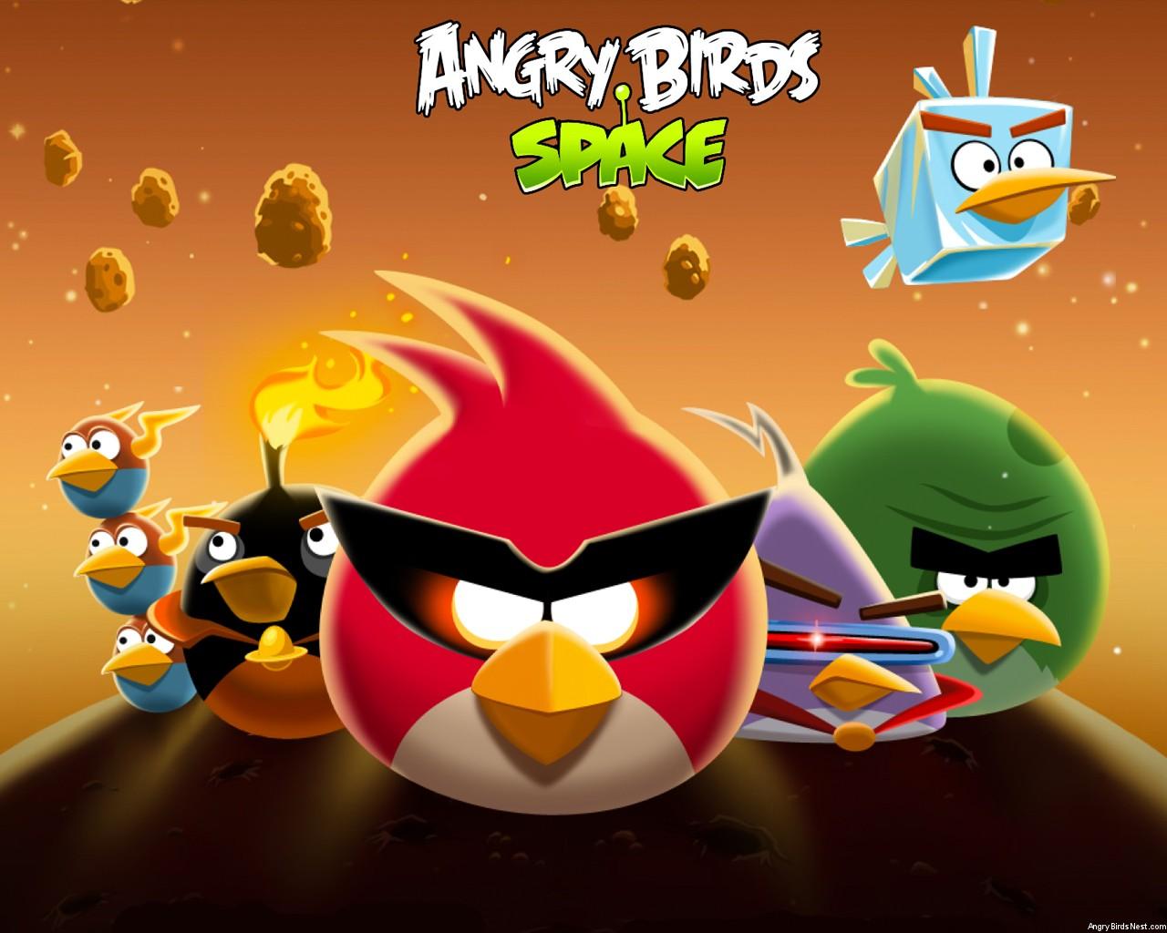 Angry Birds Space Bird Clan Light Laptop Wallpaper 1280x1024