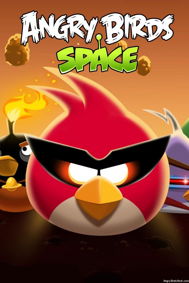 Angry Birds Space Bird Clan Light iPhone Wallpaper