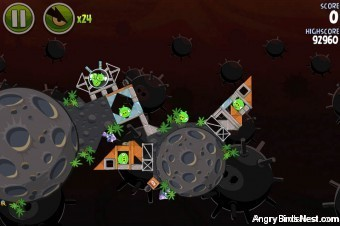 Angry Birds Space Danger Zone Level 24 Walkthrough