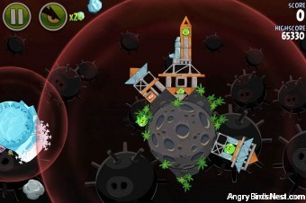 Angry Birds Space Danger Zone Level 8 Walkthrough