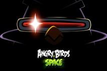 Angry Birds Space Laser Bird Dark iPad Wallpaper