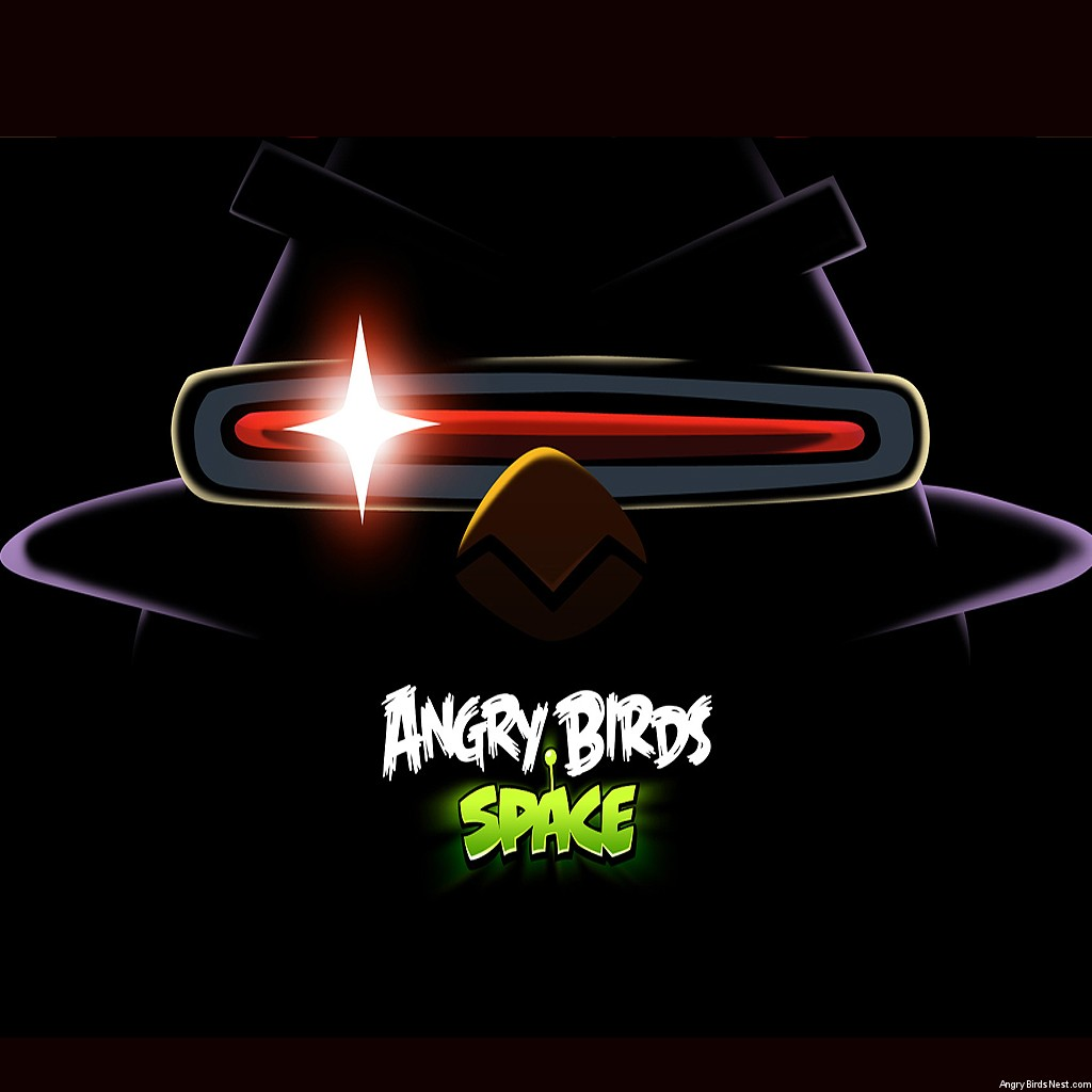 Angry Birds Space Laser Bird Dark iPad Wallpaper
