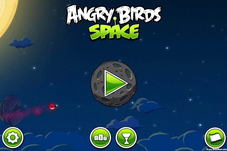 Angry Birds Space Main Screen