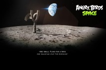 Angry Birds Space Moon Slingshot Desktop Wallpaper 1920x1080
