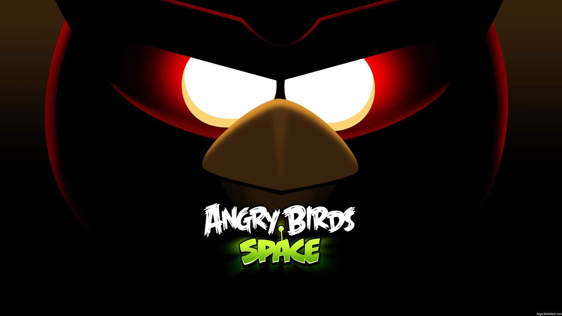 Angry Birds Space Red Bird Eyes Desktop Wallpaper 1920x1080