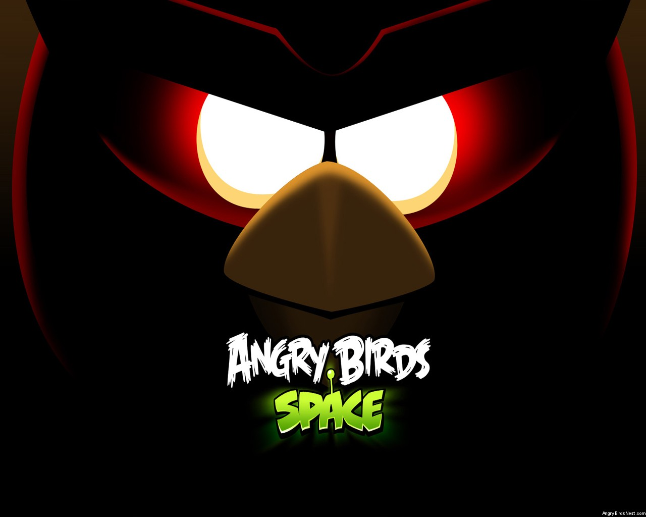 Angry Birds Space Red Bird Eyes Laptop Wallpaper 1280x1024