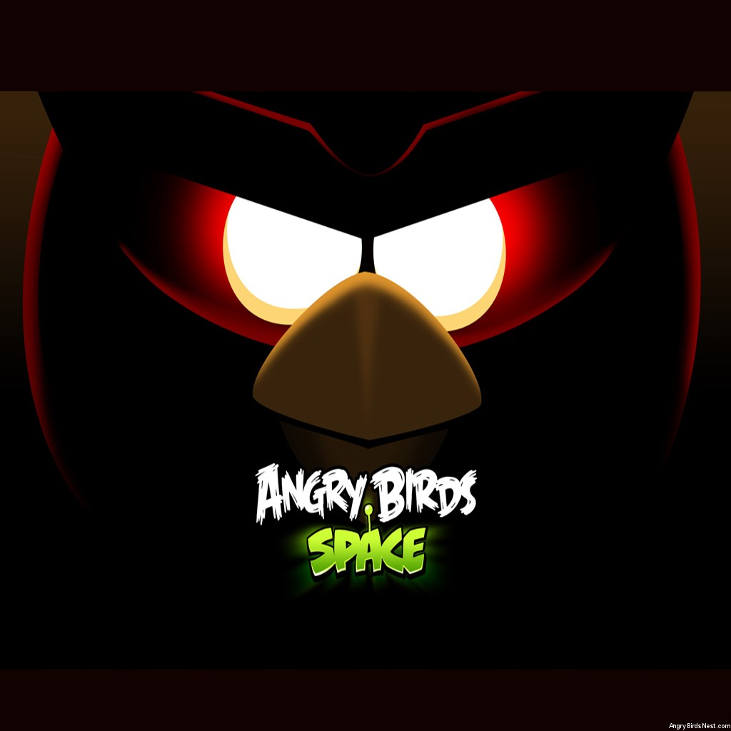Angry Birds Space Red Bird Eyes iPad Wallpaper