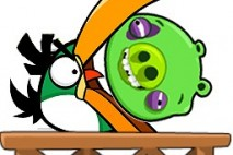 Angry Birds Avatar Boomerang Bird Eating Pig