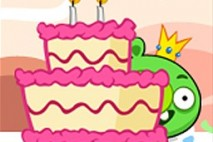 Angry Birds Avatar Pig Behind Cake