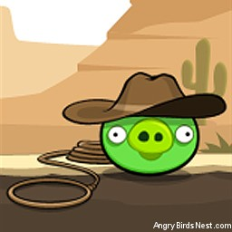 Angry Birds Avatar Pig In Cowboy Hat
