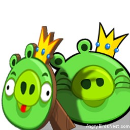 Angry Birds Avatar Pigs With Decoy Up Close