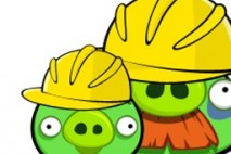 Angry Birds Avatar Pigs in Construction Has Up Close