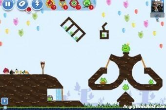 Angry Birds Facebook Golden Egg 6 Walkthrough
