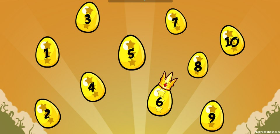 Angry Birds Facebook Golden Eggs Selection Screen with Numbers Short
